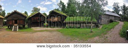 Old Norwegian Farm House (fra Telemark), Oslo, Norway