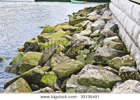 Rocks Along The Pier