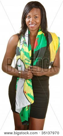 Pretty Black Woman In Scarf