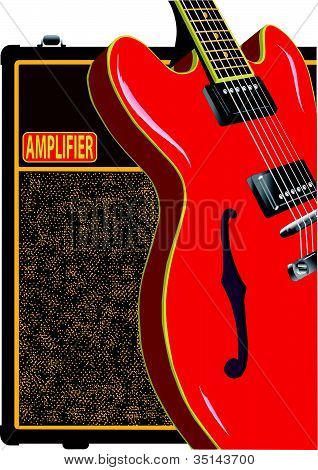 Semi Solid Guitar And Amplifier.eps