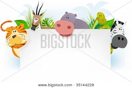 Wild African Animals Background