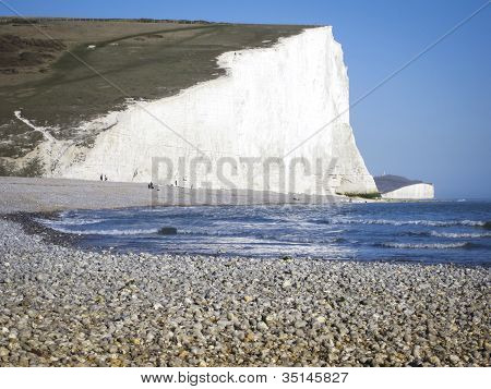 Pebble Beach Sussex costa de Inglaterra