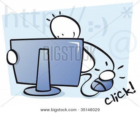 Funny Kid Internet Browsing
