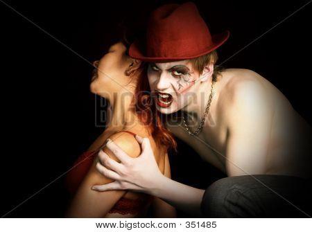 Vampire And His Victim.