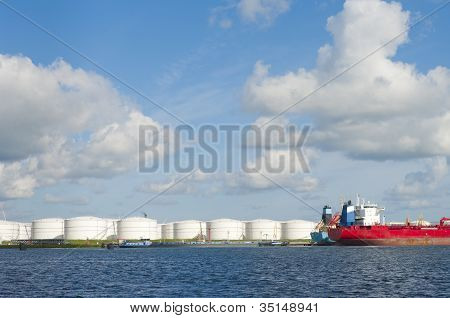 Tankers In Amsterdam Harbor