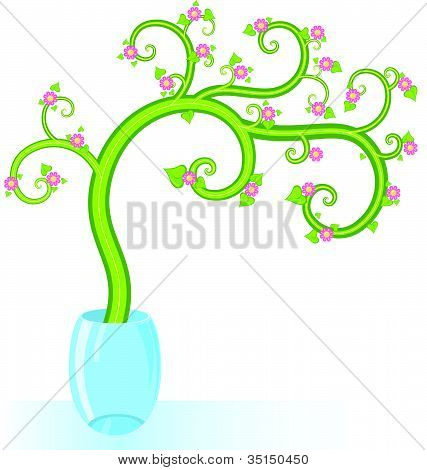 Decorative Tree Flowers Copy Space