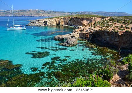 Yacht In Comino