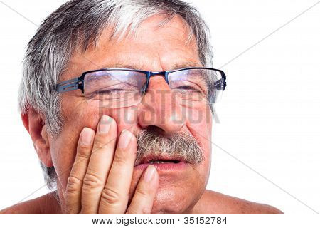 Senior Man With Toothache