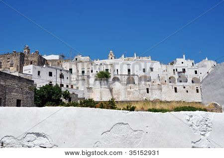 Ostuni Panorama of the Old Town