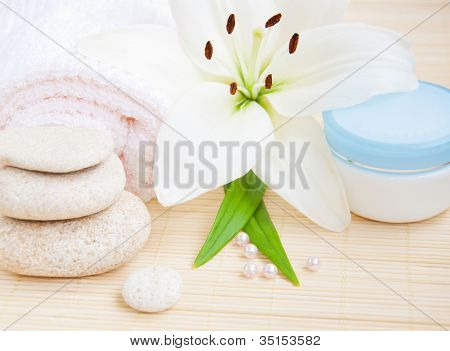White Lilly And Towel