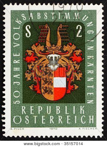 Postage stamp Austria 1970 Arms of Carinthia, Austria