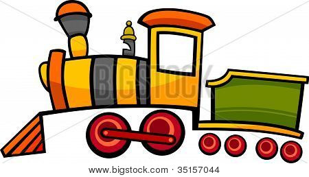 Cartoon Train Or Locomotive