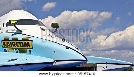 Vyshgorod, Ukraine - July 20 : Powerboat Number 2 Team Of Waircom F1 Fast Speed, Pilot Valerio Lagia