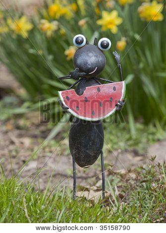 Ant Eating Watermelon Garden Statue