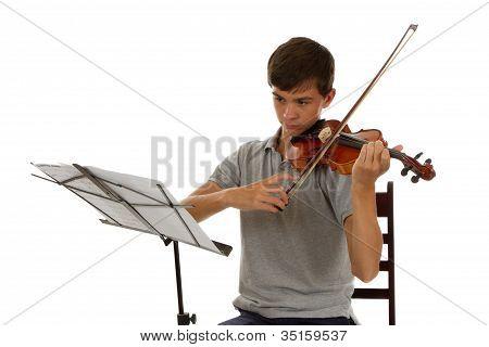 Boy playing the Viola