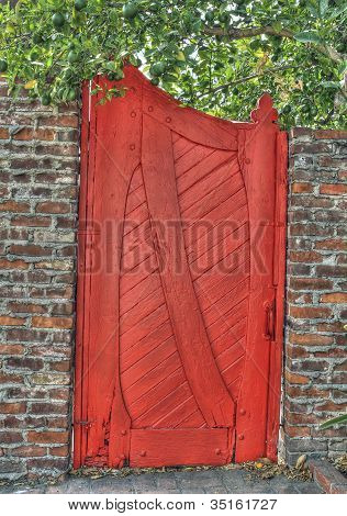 Red Wooden Gate