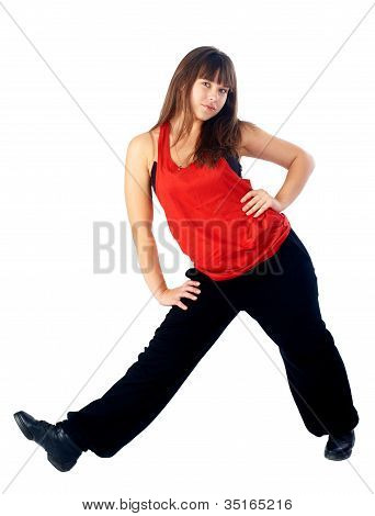 Pretty hip-hop dancer