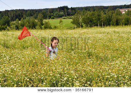 Young Girl At Summer