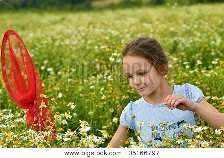 Young Girl At Summer Time