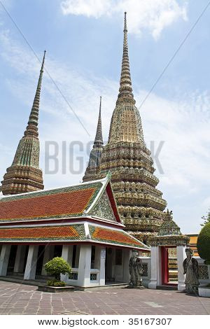 The pagoda at Wat Pho, Bangkok, Thailand.