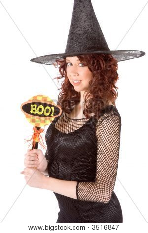 Teen Girl In Halloween Hat With
