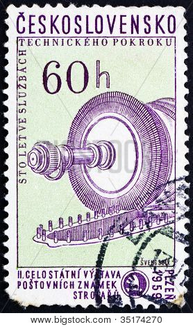 Postage stamp Czechoslovakia 1959 Steam Condenser Turbine
