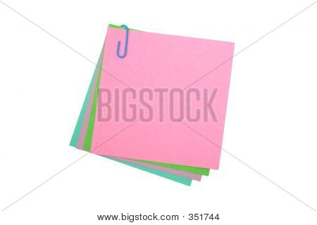 Post-its With A Paper Clip