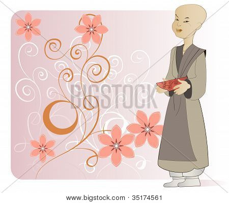 A young Buddhist monk