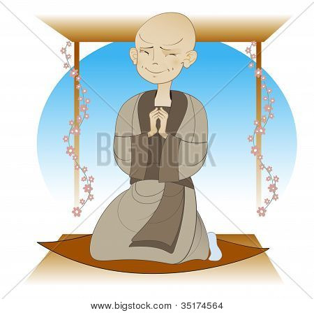 A boy - Buddhist monk