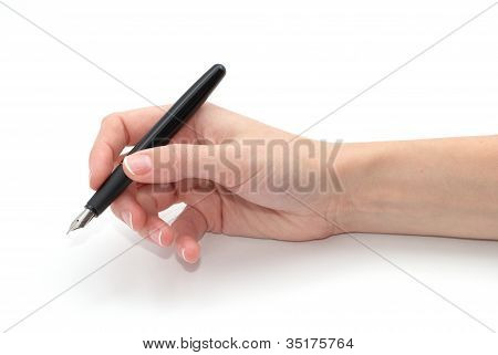 A Pen In A Hand
