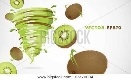 Kiwi with juicy twister