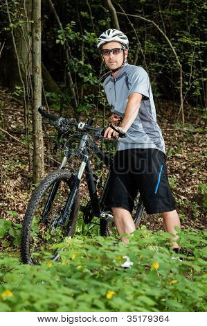 Portrait of a mountainbiker