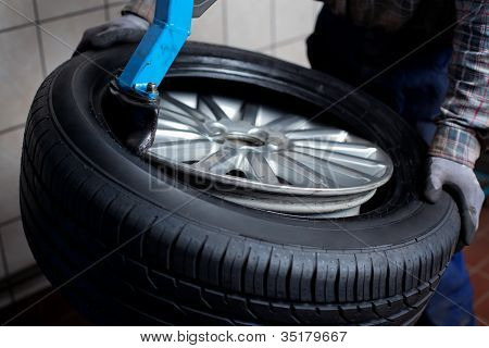 Tire Change Closeup