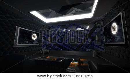 Dark Style Nightclub Room