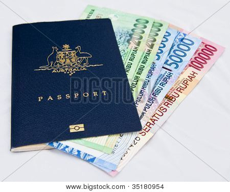 Rupiah in Australian Passport