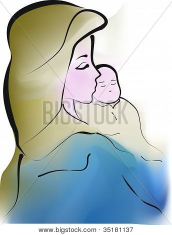 Maternidad de ilustración