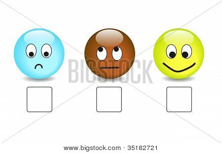 atisfaction questionnaire with emoticons