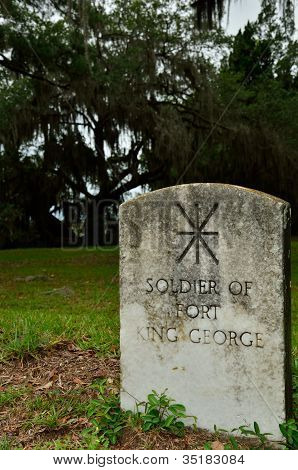 Fort King George Soldier's grave