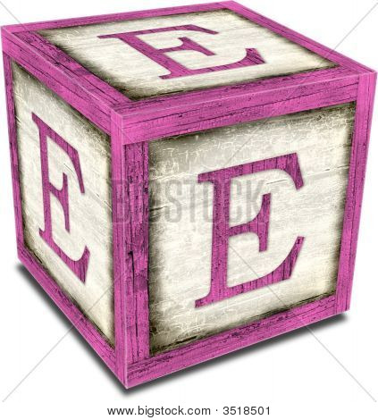 Alpha Block E Pink