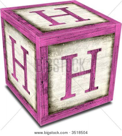 Alpha Block H Pink