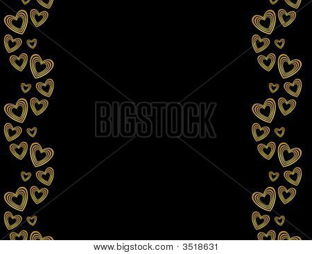 Gold Black Heart Background