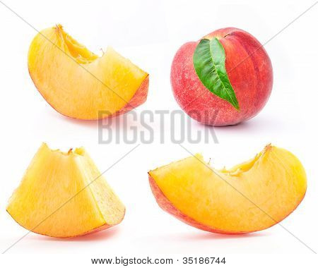 Peach and slice peach