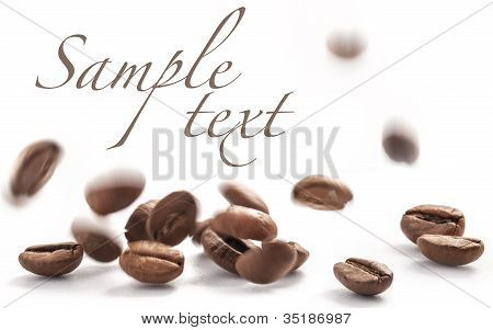 Flying and jumping coffee beans
