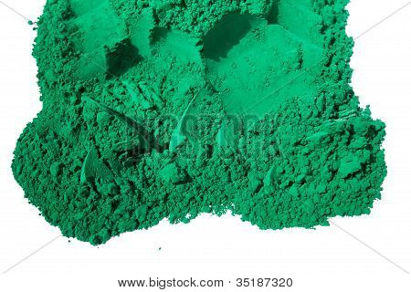 Detail of green color for holi