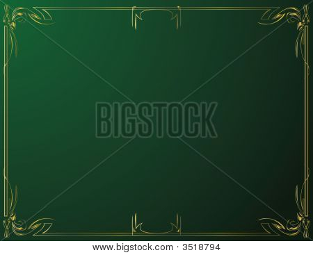 Gold And Green Background