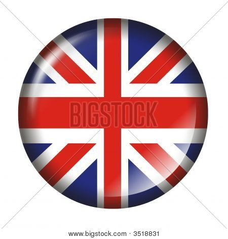 Uk Flag Button With 3D Effect