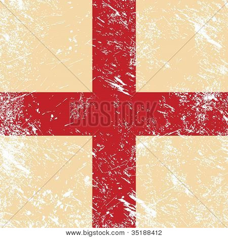 England retro flag