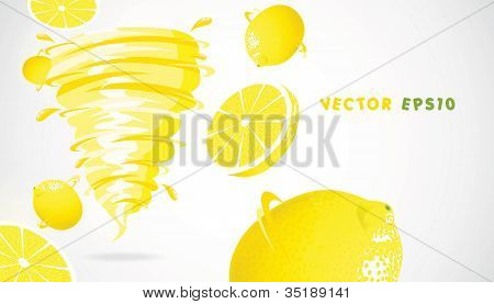 Lemon with juicy twister