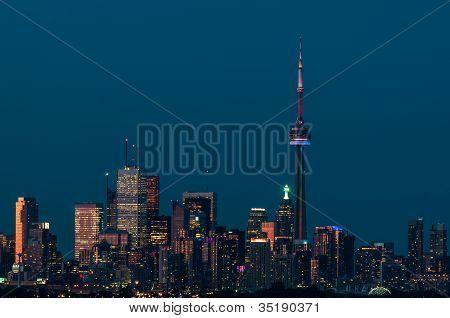 Toronto City Skyline In The Evening
