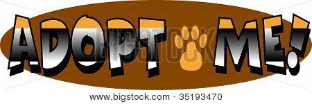Cat Dog Adopt Me Newsletter Header Text